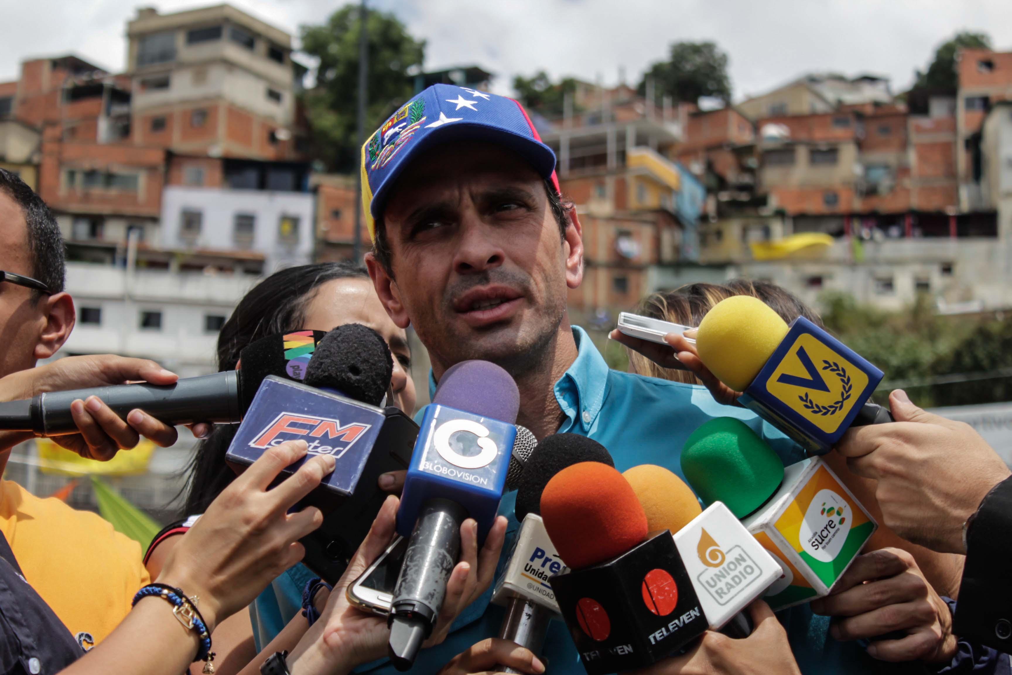 Capriles rechazó donaciones de Maduro ante banca rota venezolana