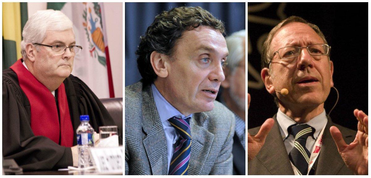 Los juristas son el costarricense Manuel Ventura Robles, Santiago Cantón de Argentina, Interamericana de Derechos Humanos; y el Profesor Irwin Cotler, de Canadá (Foto OEA)