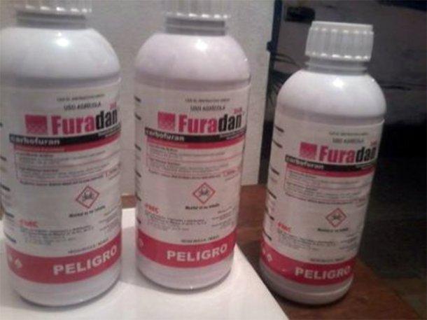 El agrotóxico Furadán, prohibido por su alta toxicidad  (Foto archivo)