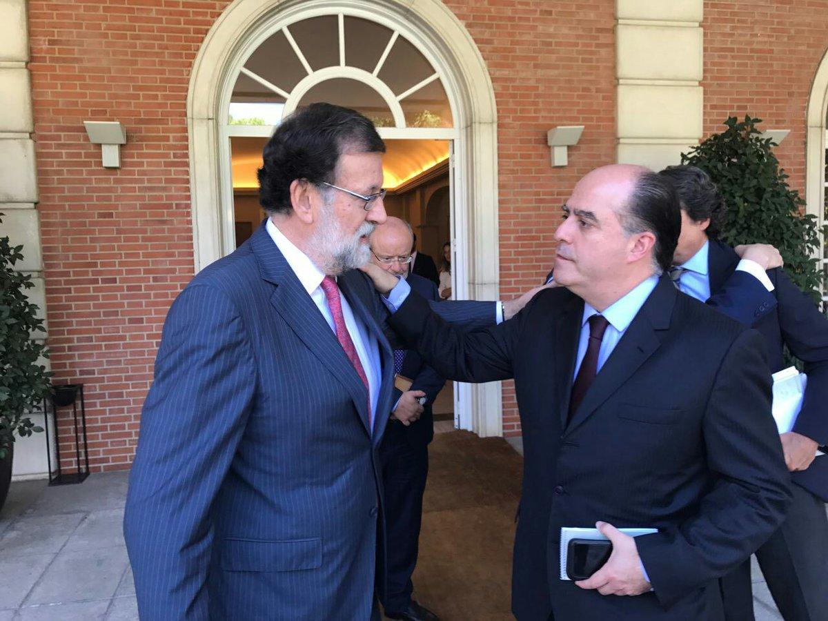 El presidente del gobierno de España, Mariano Rajoy recibió a Julio Borges, presidente de la AN