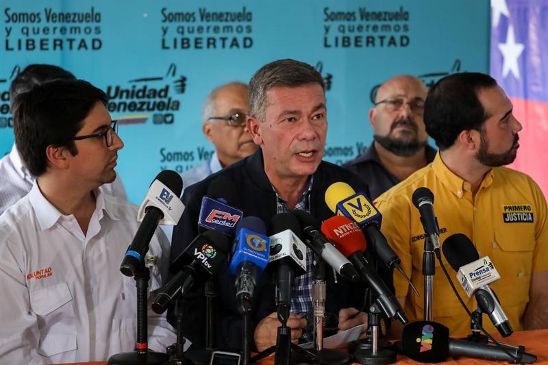 El alcalde del municipio capitalino de Baruta y coordinador nacional del comando de campaña de la coalición opositora Mesa de la Unidad Democrática (MUD), Gerardo Blyde. EFE/Miguel Gutiérrez