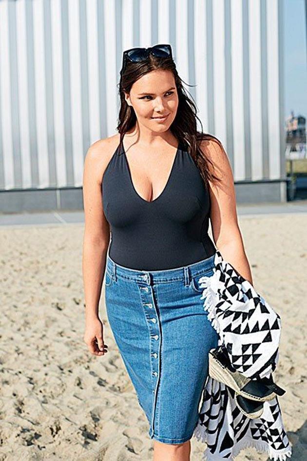 Candice Huffine: Tiene 29 años, pesa 90 kilos y utiliza una 48