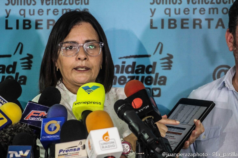 Liliana Hernández, vocera de la MUD en las elecciones regionales // FOTO Juan Peraza - La Patilla