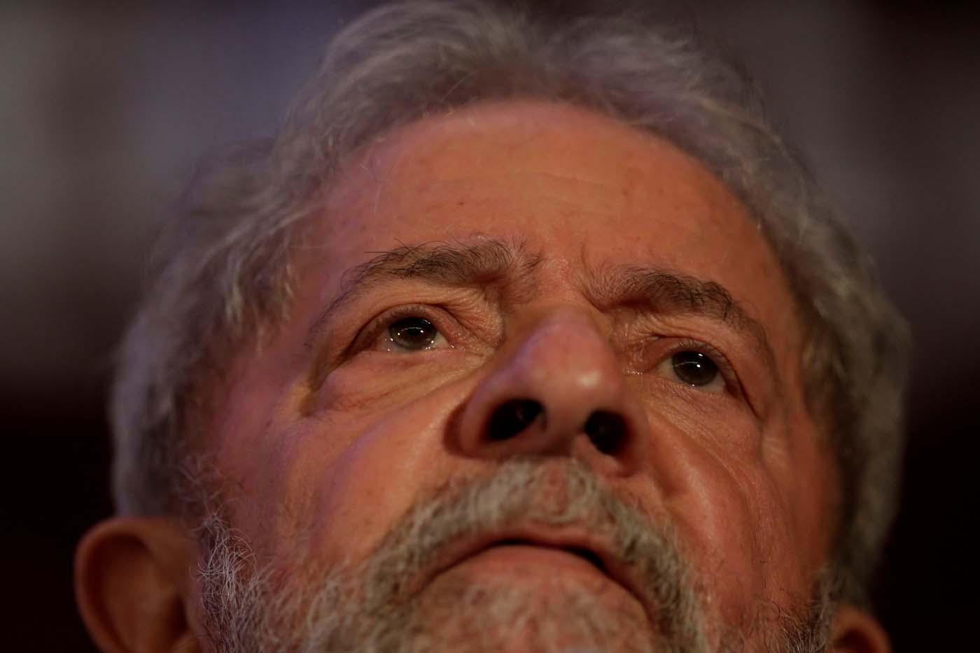 Former Brazil's President Luiz Inacio Lula da Silva looks on during a national congress of Communist Party of Brazil in Brasilia, Brazil, November 19, 2017. REUTERS/Ueslei Marcelino