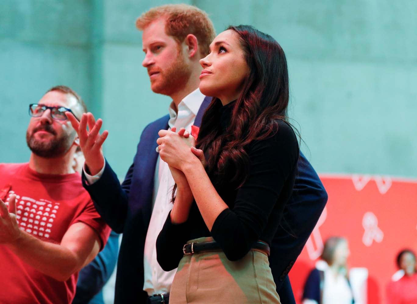 Britain's Prince Harry and his fiancee Meghan Markle visit the Terrence Higgins Trust World AIDS Day charity fair at Nottingham Contemporary in Nottingham, Britain, December 1, 2017. REUTERS/Adrian Dennis/Pool