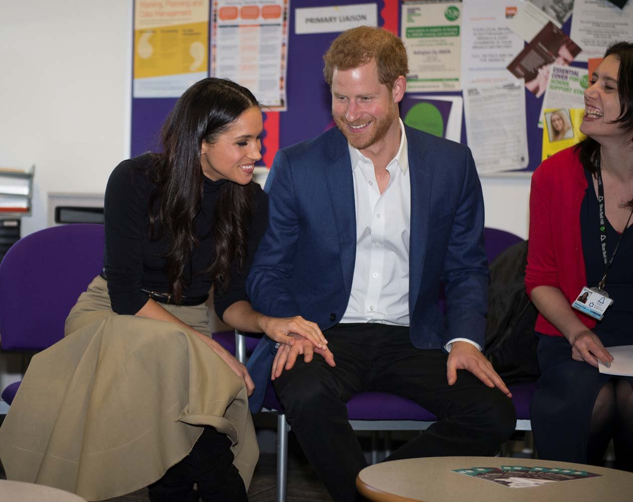 Britain's Prince Harry and his fiancee Meghan Markle visit the Nottingham Academy school in Nottingham, Britain, December 1, 2017. REUTERS/Andy Stenning/Pool