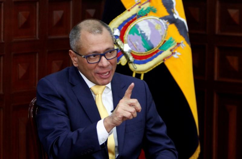 Foto de archivo del vicepresidente de Ecuador Jorge Glas en una entrevista con Reuters en Quito. Ago 29, 2017.  REUTERS/Daniel Tapia