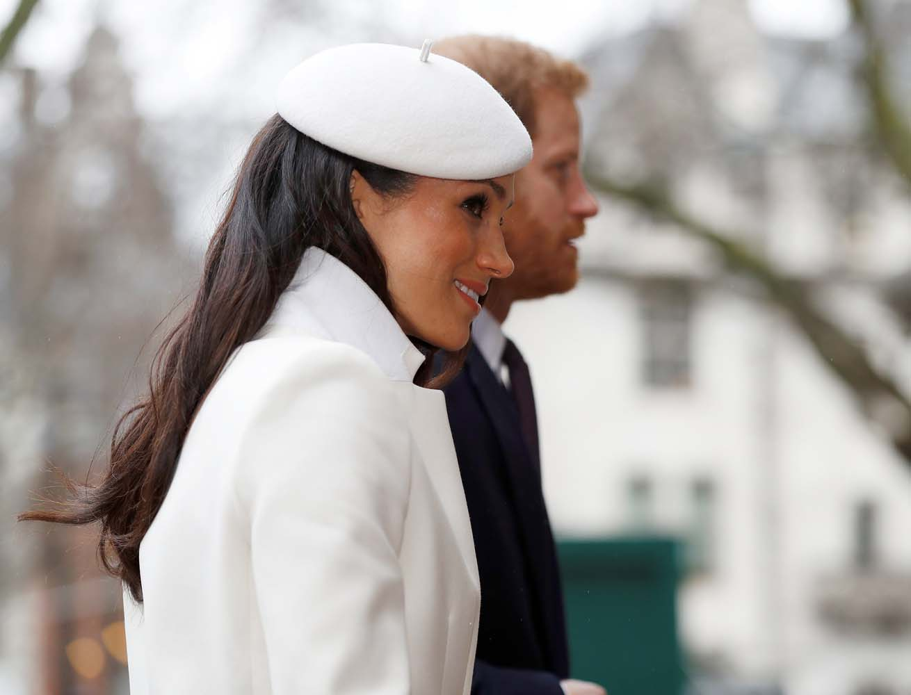 Britain's Prince Harry and his fiancee Meghan Markle arrive at the Commonwealth Service at Westminster Abbey in London, Britain, March 12, 2018. REUTERS/Peter Nicholls