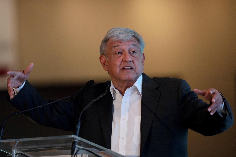Imagen de archivo del candidato izquierdista a la presidencia de México Andrés Manuel Lépez Obrador durante una conferencia en Guadalajara, México, Marzo 23, 2018. REUTERS/Henry Romero