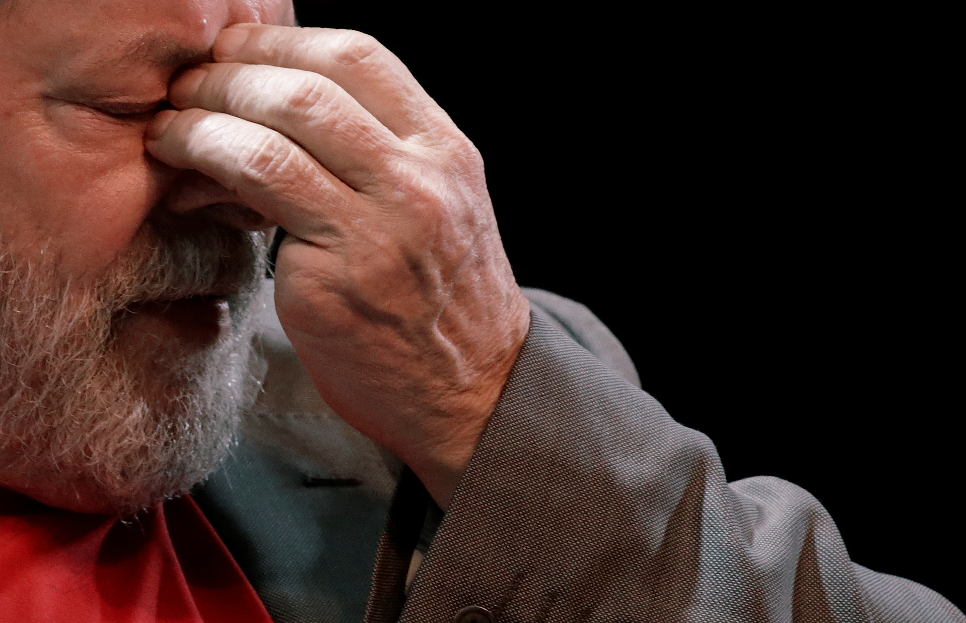 El expresidente, Luiz Inácio Lula da Silva, durante un acto de partidos de izquierda en Río de Janeiro. Imagen de archivo. 2 de abril de 2018. REUTERS/Ricardo Moraes