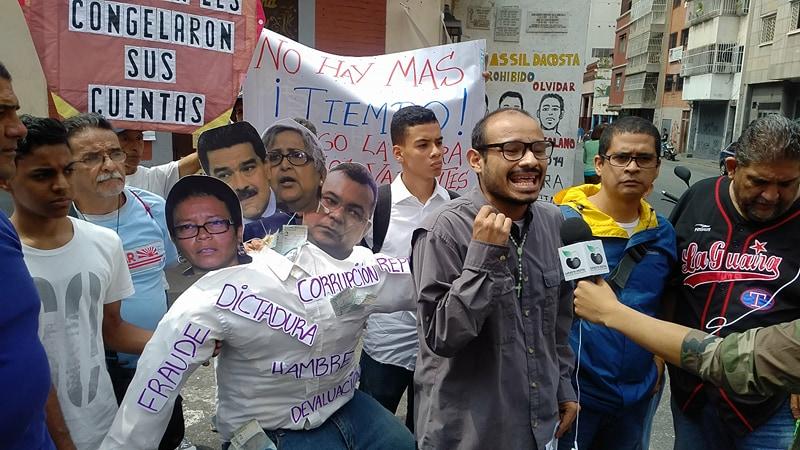 En Caracas quemaron al hambreador Judas Maduro Farías Reverol de Lucena (2)