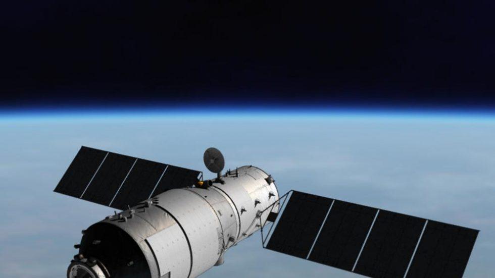 Imagen virtual de la estación espacial china Tiangong-1 (CMSE)