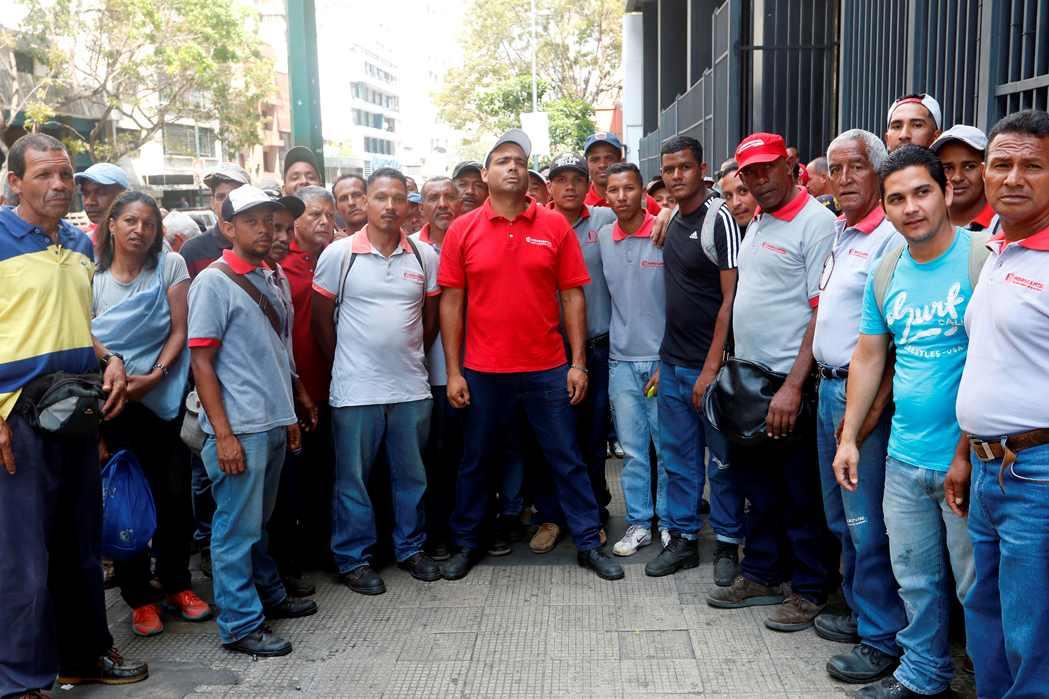 Foto: Trabajadores de hidrocapital  denuncian ante la fiscalia / El Universal