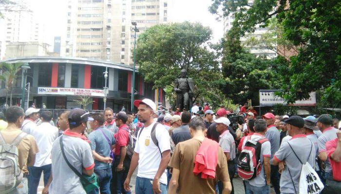 Trabajadores de Hidrocapital // FOTO 800Noticias