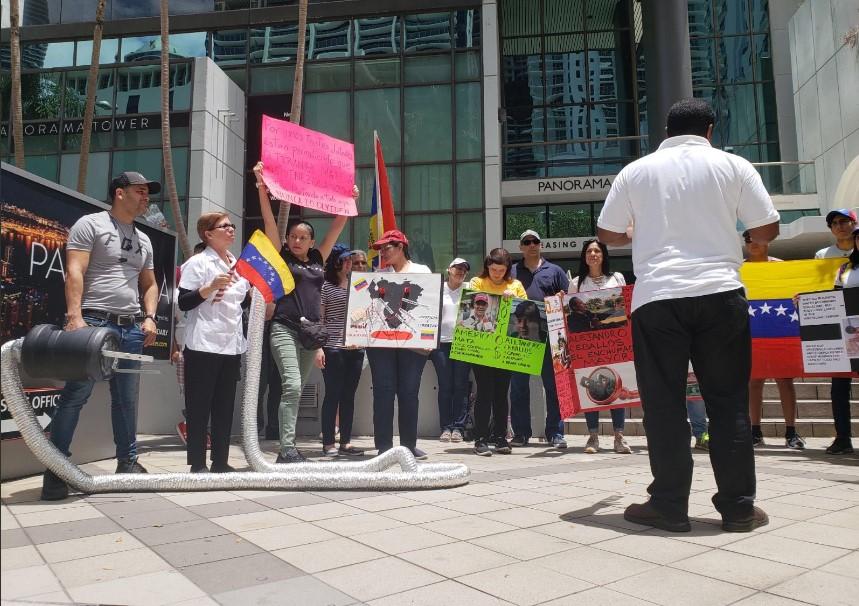 Exilio venezolano en Miami Foto de twitter @Veppex1