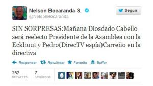 """Bocaranda: Esta será la """"nueva"""" directiva de la Asamblea Nacional"""