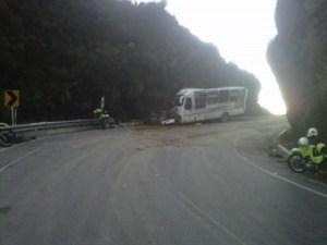 Once muertos y 31 heridos en accidente de autobús en Colombia