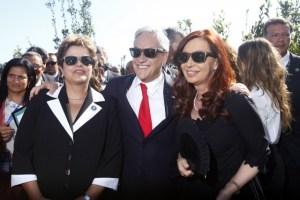 Dilma, Cristina y Piñera se pusieron de acuerdo (foto)