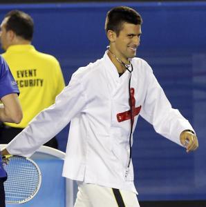 La última locura de Djokovic (fotos y video)
