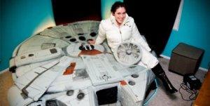 Esta es la verdadera cama de un fanático de Star Wars (Fotos)