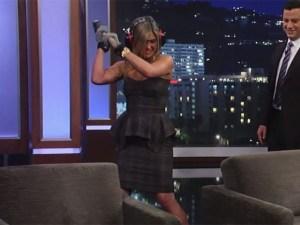 ¿Qué le dio a Jennifer Aniston?