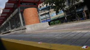 Así NO trabajó el Bus Caracas hoy (Fotos)