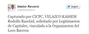 Capturan a Rodolfo Velazco vinculado con la organización del Loco Barrera
