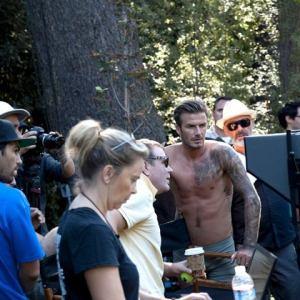 David Beckham, héroe de acción en interiores