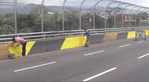 Instituto de Vialidad del Táchira cumple labores de mantenimiento en el viaducto viejo