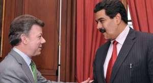 Maduro y Jaua se reunieron con Santos