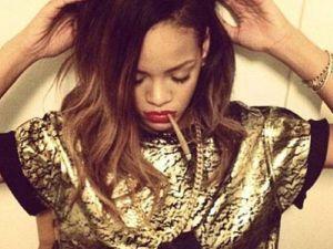 Rihanna y su gran porrito (Foto)