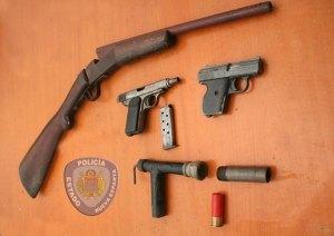 Inepol incauta armas de fuego y recupera vehículos en Margarita