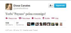 Diosa Canales quiere pelea (Imagen)