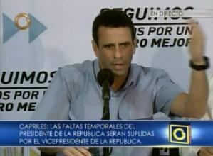 Capriles pide a los presidentes de América Latina no prestarse al juego de un partido