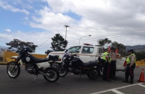 Cerrada la Cota Mil hacia San Bernardino (Foto)