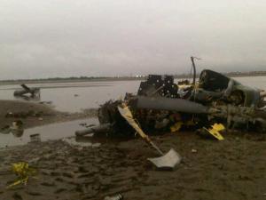 Un muerto y cuatro heridos tras accidente de helicóptero de Armada colombiana (FOTO)