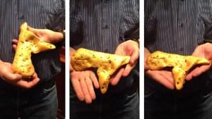 Se encontró esta mega pepota de oro que cuesta una pelota de euros (FOTO)