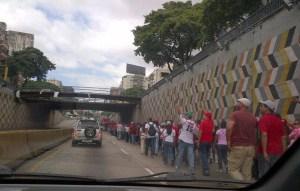 Así está la avenida Libertador (Foto)