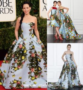Los otros vestidos de Carolina Herrera en los Golden Globes, por @Fashiongraphic (FOTOS)