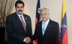 El presidente Piñera recibe a Maduro en el Palacio de la Moneda (Fotos y Video)