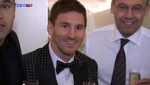 Así festejó Messi (fotos y video)