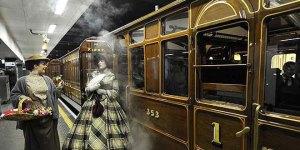 Un viaje en locomotora conmemora el 150 aniversario del metro de Londres