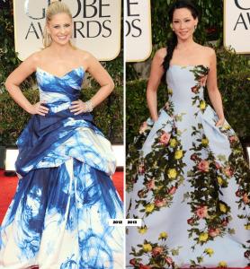 De tres, tres: Lo mejor y lo peor de los Golden Globes, por @Fashiongraphic