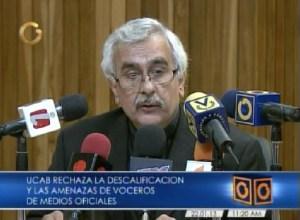 Rector de la Ucab rechaza el hostigamiento contra las protestas estudiantiles
