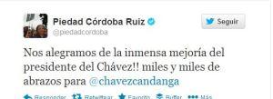 Esto fue lo que dijo Piedad Córdoba de las fotos de Chávez