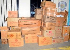 Inepol desmantela venta clandestina de fuegos pirotécnicos en allanamiento