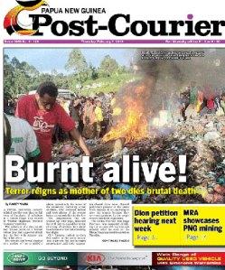 Horror: La quemaron viva y publicaron esta foto