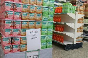 Controlan venta de productos regulados para que no se acaben rápido