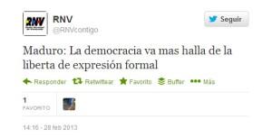 """La """"de sembrinada"""" de hoy es cortesía de Radio Nacional de Venezuela"""