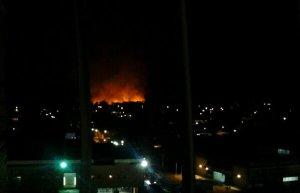 Bomberos de Aragua trabajan para apagar incendio forestal cerca de Cavim (Foto)